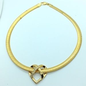 Jewelry - Gold Heart Slide Necklace